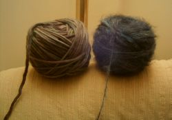 Silkwood Roving and Mohair Balls