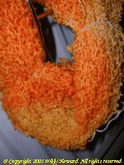 Close up of Mango Chutney yarn